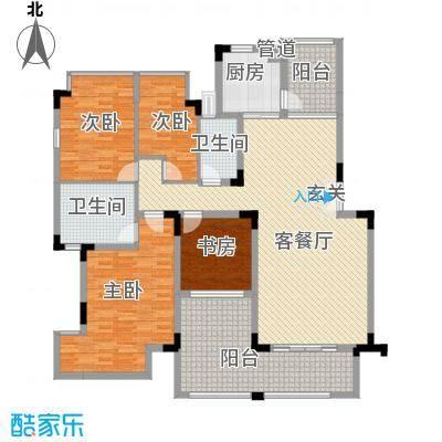 郦城水岸148.30㎡后期D1户型4室2厅2卫1厨