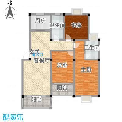 东方丽景133.00㎡F1户型3室2厅2卫