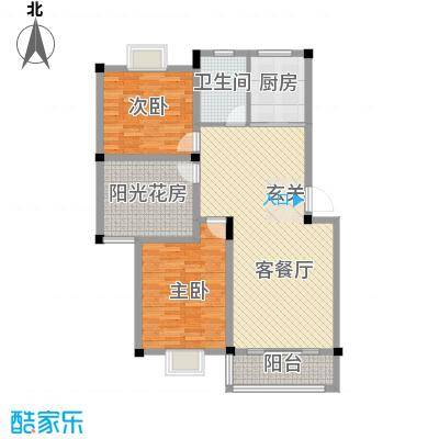 东方丽景8.00㎡D1户型3室2厅1卫
