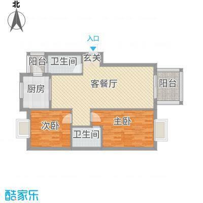 江南春晓户型2室2厅2卫