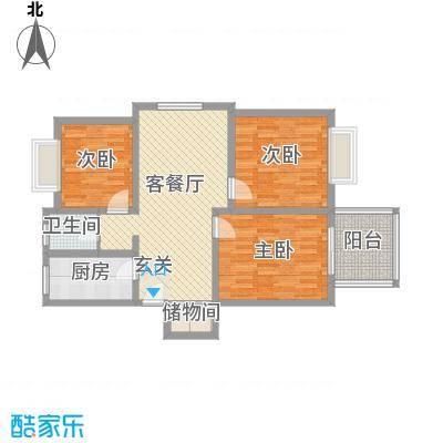 江南春晓户型3室2厅1卫