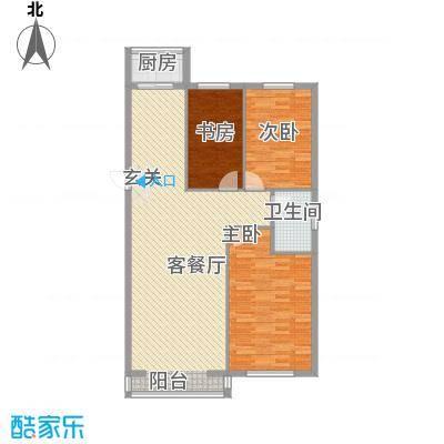 丰和日丽113.42㎡三期户型3室2厅1卫