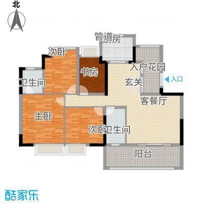 丽日百合家园15.00㎡户型4室