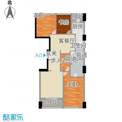 苏宁广场187.00㎡大平层C户型3室2厅2卫1厨