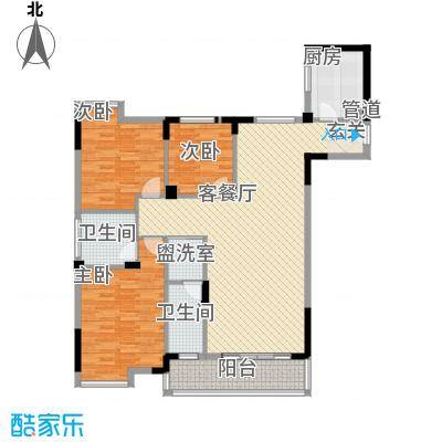 前埔北区二里39户型3室2厅2卫1厨