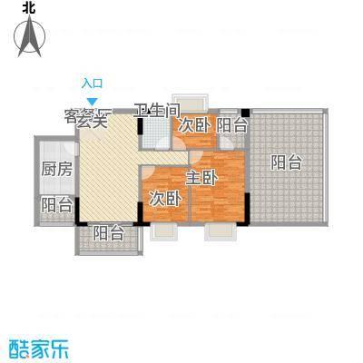 翰林名苑4、5栋01单元02单元户型3室2厅1卫1厨