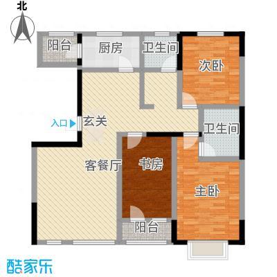 绿地新里中央公馆136.00㎡13栋03户型3室2厅2卫