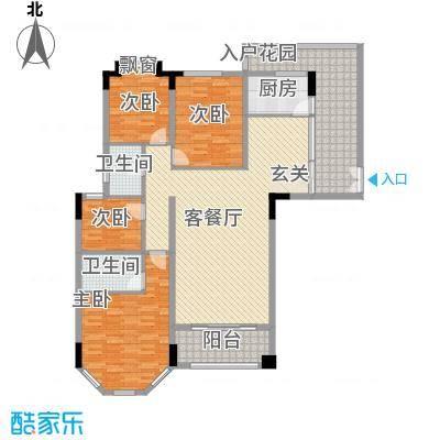 富龙翡翠欧庭153.13㎡2栋1单元01、03户型4室2厅2卫1厨