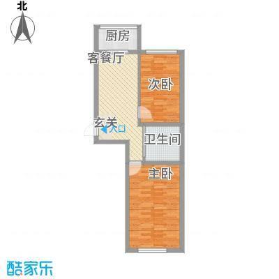 丰和日丽65.24㎡二期户型2室1厅1卫