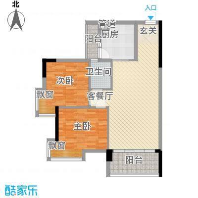 丽园新村88.00㎡户型2室