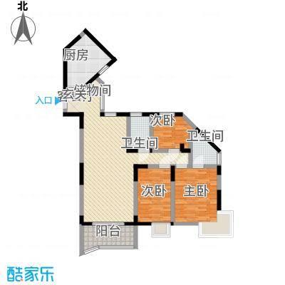 丽园新村116.10㎡D(偶)户型3室2厅2卫1厨