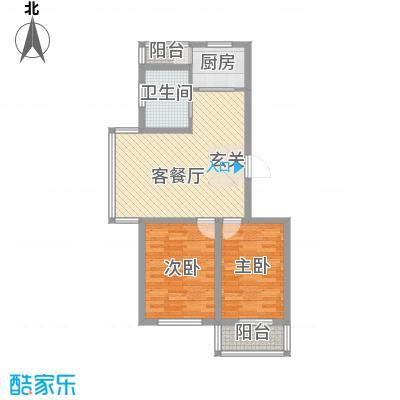 高格蓝湾5.00㎡D户型2室2厅1卫