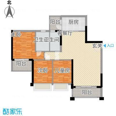 中颐海伦堡117.20㎡三期14栋02单元户型3室2厅2卫