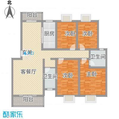 民生桂馨苑四居室户型