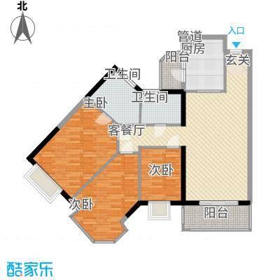 中颐海伦堡125.00㎡惠州海伦堡户型3室