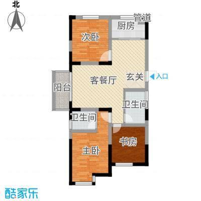 常发欧风新天地111.00㎡二期19号楼C10户型3室2厅2卫1厨