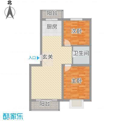 吴中印象86.00㎡5A1户型2室2厅1卫