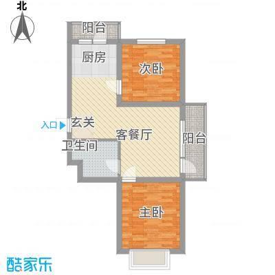 吴中印象82.80㎡1C户型2室2厅1卫