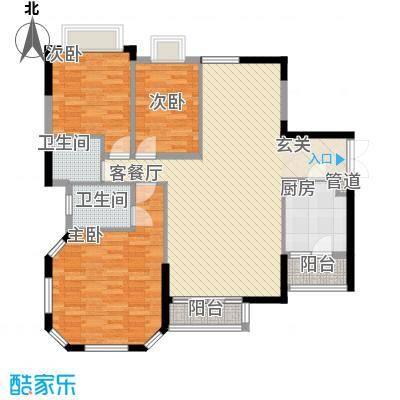 金碧花苑户型3室