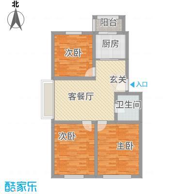 耀江五月花苑14.37㎡M户型3室2厅1卫