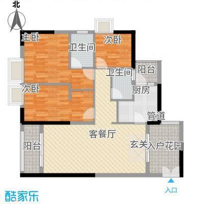 鑫月汇峰11.71㎡户型3室2厅