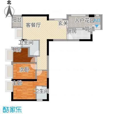 鑫月汇峰112.00㎡户型3室
