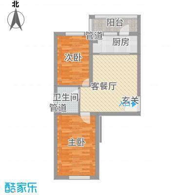 耀江五月花苑7.51㎡c户型2室1厅1卫