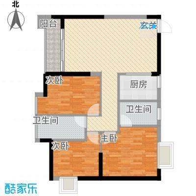 鑫汇苑111.00㎡户型3室