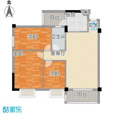 濠东花园5.00㎡户型3室