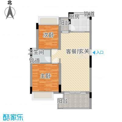 金旺新苑77.00㎡户型2室