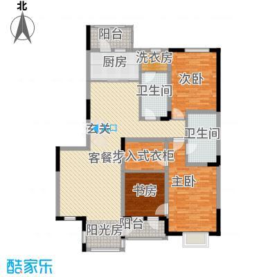 绿地新里中央公馆145.00㎡E2户型3室2厅2卫