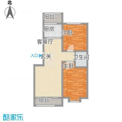 尚港华府高层10号楼标准层J'反户型
