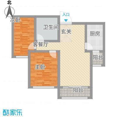 尚港华府高层5号楼标准层B户型