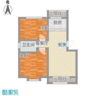尚港华府高层10号楼标准层J户型