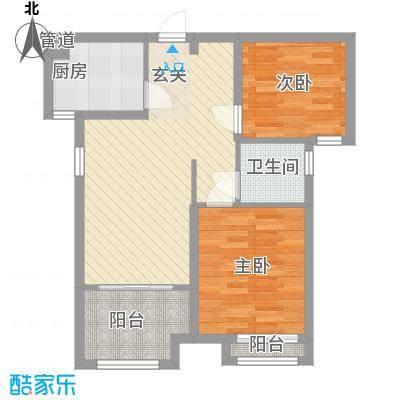 龙桥新园二期7、9号楼标准层A2户型