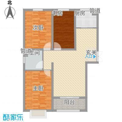 金舍・博贤院127.80㎡户型3室2厅1卫
