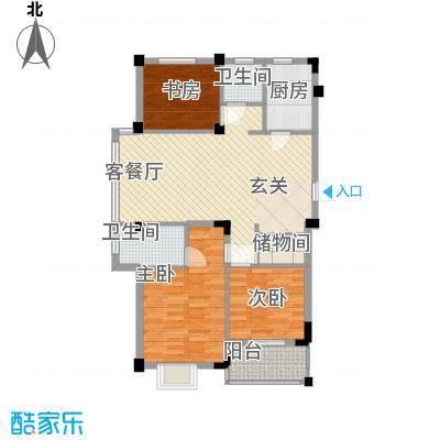 东华花园113.00㎡一期a17户型3室2厅2卫1厨