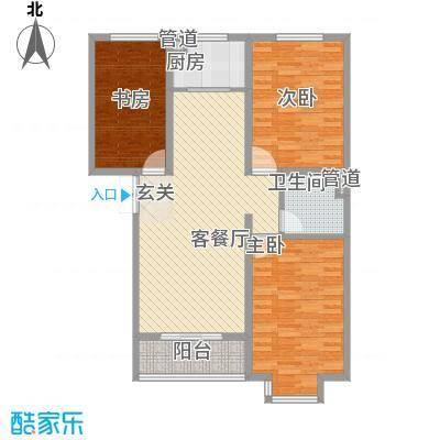 金舍・博贤院126.20㎡户型3室2厅1卫