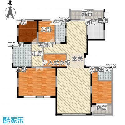 中信御园252.00㎡E户型4室2厅3卫1厨