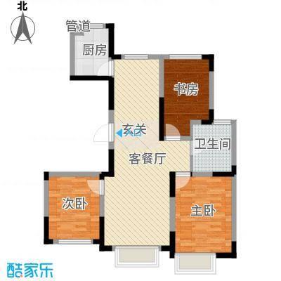 力旺美林16.16㎡二期B1户型3室2厅1卫