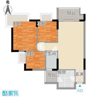 天明豪庭2.41㎡2栋04/05户型3室2厅2卫1厨
