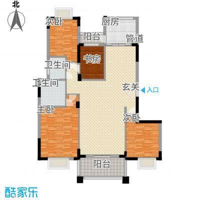 天明豪庭165.68㎡户型4室2厅2卫1厨