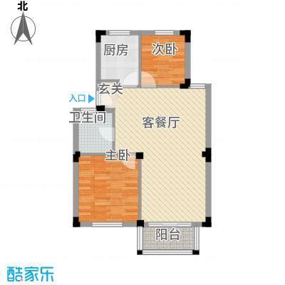 雍景苑户型2室2厅1卫1厨