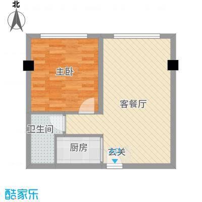 摩卡空间户型1室2厅1卫1厨