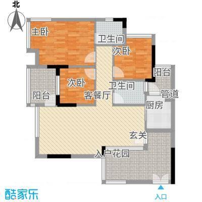 金宝兴业家园11.00㎡户型3室