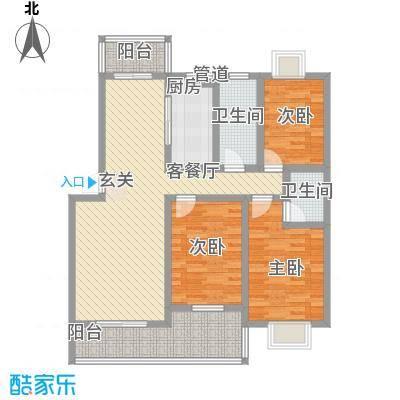 金宝兴业家园125.00㎡户型3室