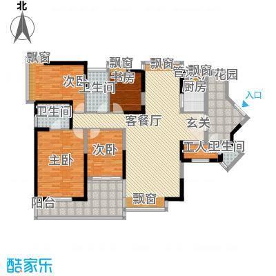 半岛城邦户型3室