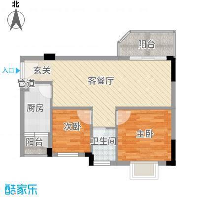 青青世界64.00㎡户型2室2厅