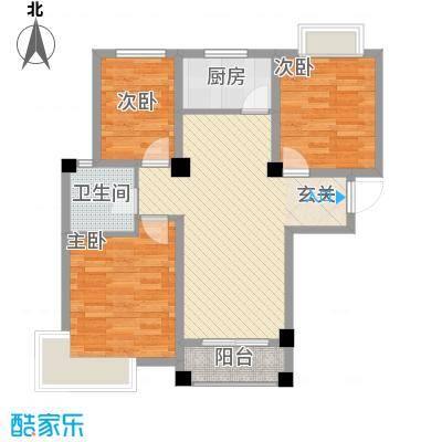 上城国际88.00㎡D1户型