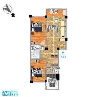 陈蕊-水岸华城-两室一厅-73.7㎡